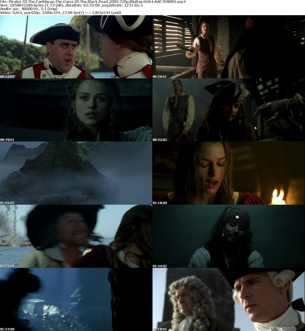 Pirates Of The Caribbean The Curse Of The Black Pearl (2003) 720p BluRay H264 AAC-RARBG