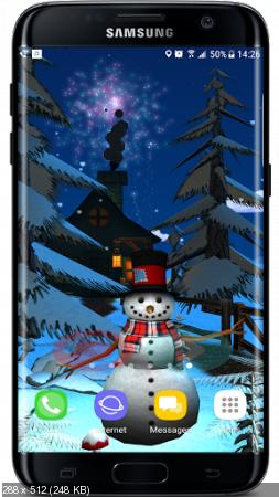 Christmas Winter Forest 3D Live Wallpaper 1.0.2 (Android)