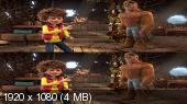 Стань легендой! Бигфут Младший 3D / The Son of Bigfoot 3D Вертикальная анаморфная стереопара