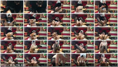 JosslynKane - Nier automata 2B is playing dirty with her slave [Shit In Pantyhose / 1.90 GB] FullHD 1080p (Amateur, Scat, Solo)