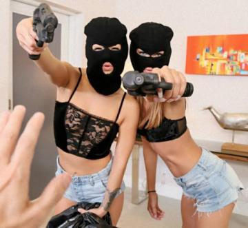 Charity Crawford, Evelin Stone - Prank Whores Sexy Robbery (2018) HD 720p
