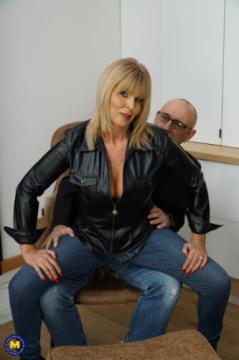 Miss Gabrielle Fox EU 53 - British Milf Miss Gabrielle Fox has sex with a dirty old man (2018) FullHD 1080p