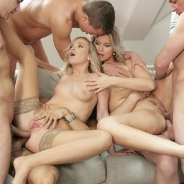 Vinna Reed, Nikki Dream - Vinna Reed And Nikki Dream Take On Five Guys Together For A Group Sex Fuck (2018) HD 720p
