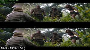 Джуманджи: Зов джунглей 3D / Jumanji: Welcome to the Jungle 3D  (Лицензия by Ash61) Вертикальная анаморфная стереопара