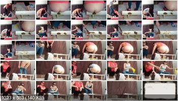 Femdom (MilanaSmelly) Double diarrhea [HD 720p] Face Sitting, Toilet Slavery